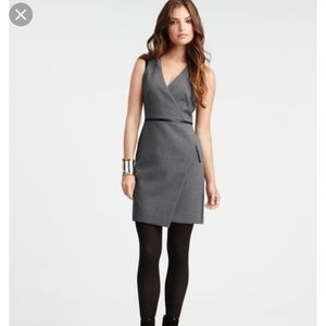 Ann taylor Sleeveless Wrap w/Leather Trim dress